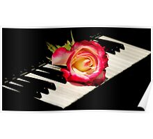 MUSICAL ROSE~made a Sale today..greeting card! Poster