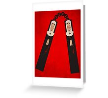 Nun-chucks print Greeting Card