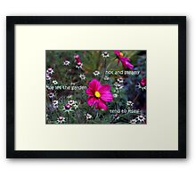 Hot and Steamy Framed Print