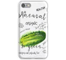 Watercolor cucumber iPhone Case/Skin
