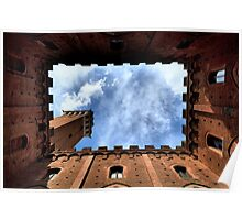 Palazzo publico, Sienna, Italy, frogs perspective Poster