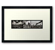 Weizen Triptychon Framed Print