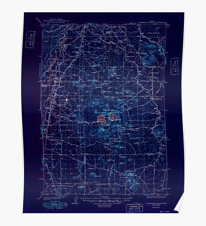 USGS Topo Map Oregon Newberry Crater 283235 1935 125000 Inverted Poster