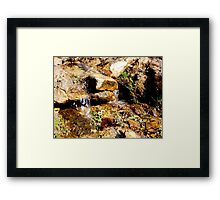 A stream of water  Framed Print