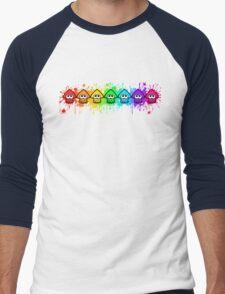 Splatterhouse - RAINBOW INK Men's Baseball ¾ T-Shirt