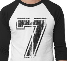 Bold Distressed Sports Number 7 Men's Baseball ¾ T-Shirt