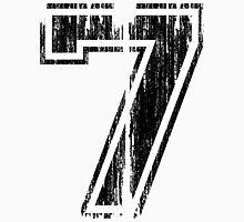 Bold Distressed Sports Number 7 Men's Baseball ¾ T-Shirt