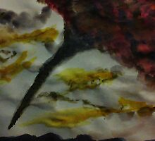 Funnel Cloud!!  Natural Disaster Series, watercolor by Anna  Lewis