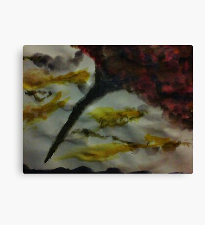 Funnel Cloud!!  Natural Disaster Series, watercolor Canvas Print