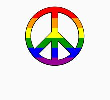Gay Pride Peace Womens Fitted T-Shirt