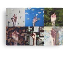 Hands Collage2 Canvas Print