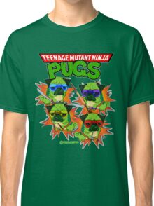 Teenage Mutant Ninja Pugs Classic T-Shirt