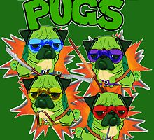 Teenage Mutant Ninja Pugs by darklordpug