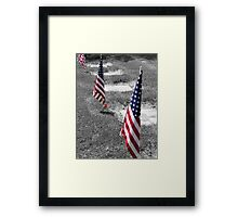 Honoring American Hero's.... Framed Print