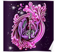 Pink Whirlpool Shark  Poster
