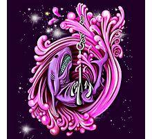 Pink Whirlpool Shark  Photographic Print