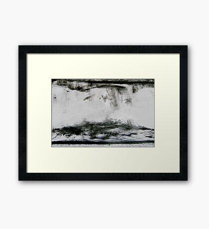 dune birds... turbulent sky Framed Print