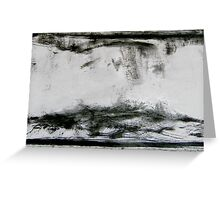 dune birds... turbulent sky Greeting Card