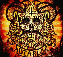 El Diablo Sugar Skull by ShayneoftheDead