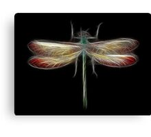 Medicine Wheel Totem Animals by Liane Pinel- Dragonfly Canvas Print