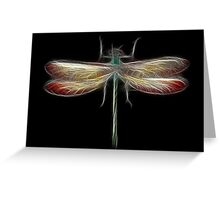 Medicine Wheel Totem Animals by Liane Pinel- Dragonfly Greeting Card