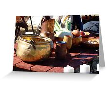 Medieval Table Setting Greeting Card