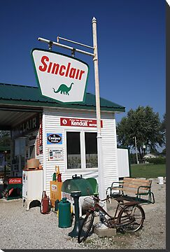 Route 66 - Sinclair Station by Frank Romeo