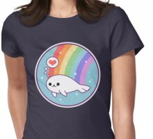 Kawaii Baby Seal Womens Fitted T-Shirt