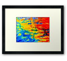 Color Splash Abstract Framed Print