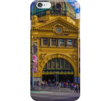 The Cyclist at Flinders Street Station iPhone Case/Skin