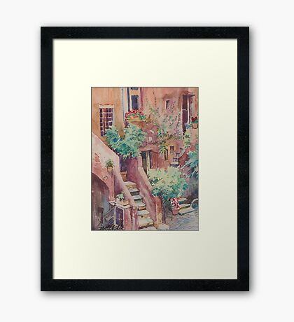 Coming Home Rome Framed Print