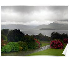 Late Afternoon Rain over Lake in Killarney Poster