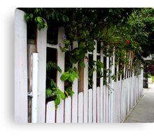 """Neighborhood Fencing"" Canvas Print"