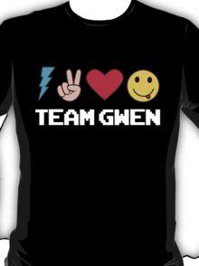 Team Gwen Emoji Emoticon Black T-Shirt