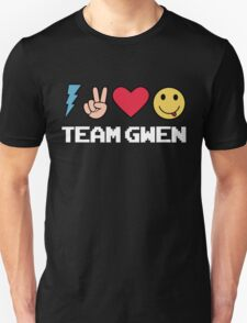 Team Gwen Emoji Emoticon Black T-Shirt