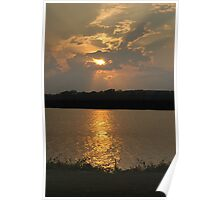 Sunset Over the Tennessee River Poster