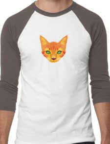 Orange Cat Men's Baseball ¾ T-Shirt