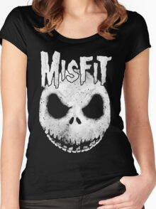 The Misfit of Christmas Town Women's Fitted Scoop T-Shirt