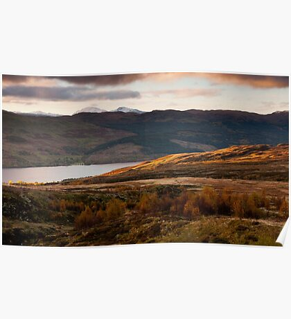 First Light over Loch Tay, onto Ben Lawers, Scotland Poster