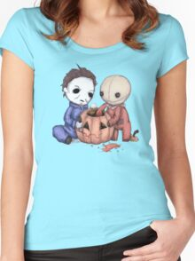 Halloween Helper Women's Fitted Scoop T-Shirt