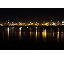 Port Botany in Darkness Photographic Print