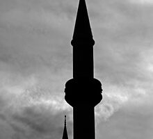 Minarets - Black and White by Noel Elliot