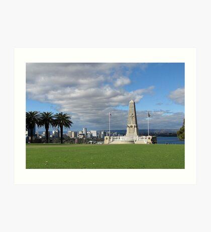 Perth - War Memorial Art Print