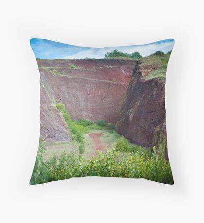 Pouzzolane Quarry Throw Pillow