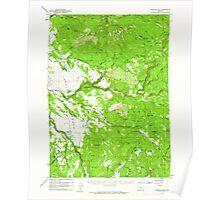 USGS Topo Map Oregon Fishhole Mtn 282497 1960 62500 Poster
