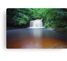 10 Minutes At West Burton Falls. Canvas Print
