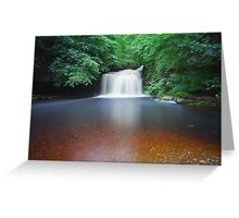 10 Minutes At West Burton Falls. Greeting Card