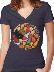 For The Love Of Goldfish Women's Fitted V-Neck T-Shirt