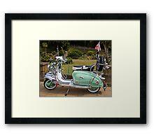 Mint Lambretta Framed Print