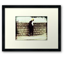 Old Man Walking Framed Print
